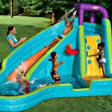 Water Slide Inflatable Pool Bouncer Kids Outdoor Basketball Backyard Wet Fun Toy