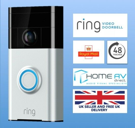 Ring Motion Activated Video Doorbell Intercom via iPhone App HD Security Camera