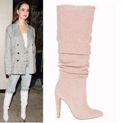 STEVE MADDEN CARRIE SLOUCH BOOTS 6 Nude