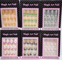 Nails Set Magic Art Nail Pre Glued Easy Express Nails Lot Of 3 Free Shipping