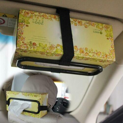 1Pc Car Tissue Paper Box Napkin Case Holder Black Visor Back Seat Organiser Good