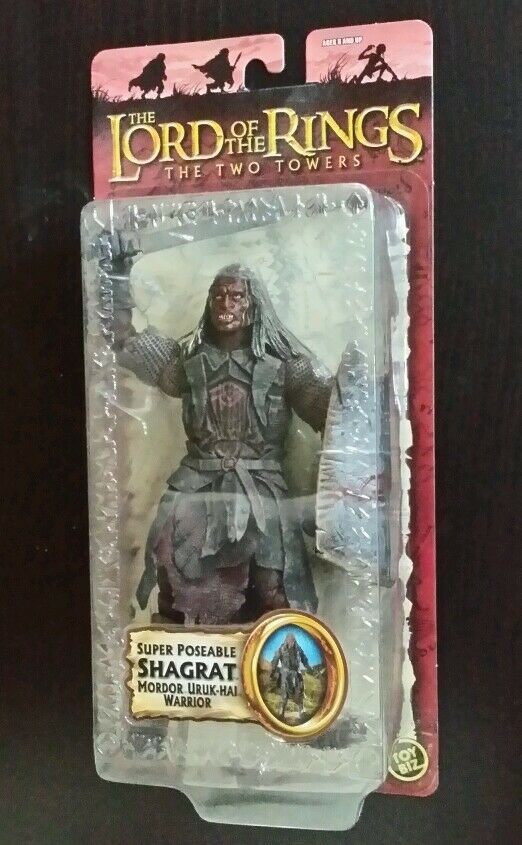 Lord of the the the Rings   Two Towers SUPER POSEABLE SHAGRAT Mordor Uruk-Hai Figure 156fbc