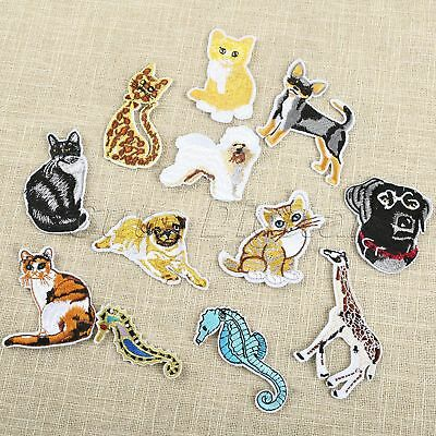 10pc Cartoon Dog Embroidery Patch Iron On Applique for DIY Craft Sewing Supplies
