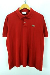 Lacoste-Men-039-s-Polo-Shirt-in-Red-Size-6-XL-Short-Sleeve-Cotton-Polo-Shirt-EF2574