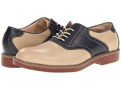 Men's Bass Oxford Saddle Shoe Pomona Hemp / Navy Blue