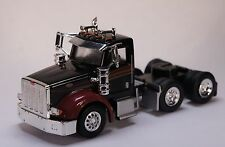 HO 1/87 Promotex # 6563 Peterbilt 367 Black/Burgundy Tandem Axle Tractor Day Cab