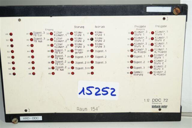 Kieback /& peter DDC contrôle 71
