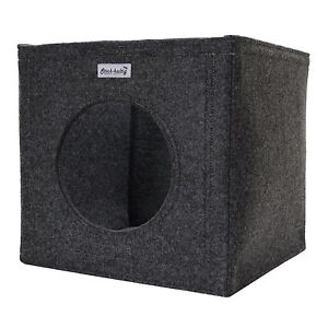 2x katzenkorb katzenh hle aus filz dunkelgrau passend ikea. Black Bedroom Furniture Sets. Home Design Ideas