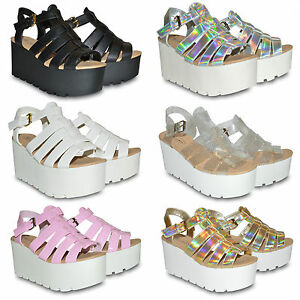 WOMENS-LADIES-NEW-CHUNKY-SOLE-FLATFORM-SUMMER-SANDALS-WEDGES-PLATFORM-SHOES-SIZE