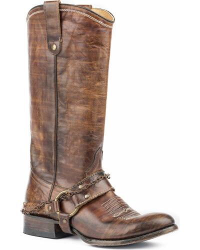 09-021-7524-1417 Roper Women/'s Selah Vintage Leather Harness Boot Round Toe