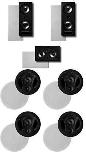 Polk Surround System  Pair of 265rt, One 255crt In-wall Front, 2pairs 70rt (Bund