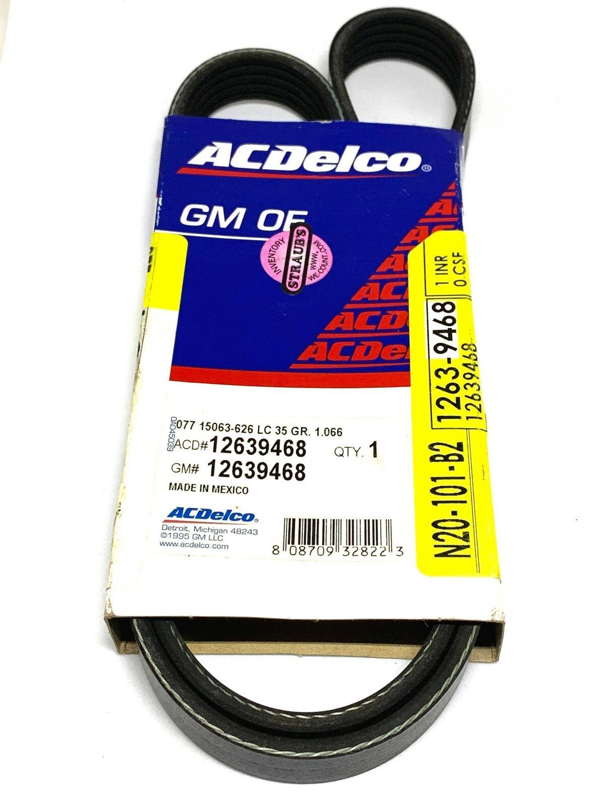 ACDelco 12639468 GM Original Equipment V-Ribbed Serpentine Belt