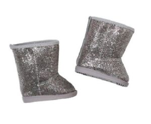 Zapf Creation Baby Born Silver Glitter Winter Boots Doll Accessory