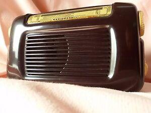 Rara-Antica-RADIO-EPOCA-Comodino-MARELLI-RD-120-Fido-del-1951-Ottima-FUNZIONANTE