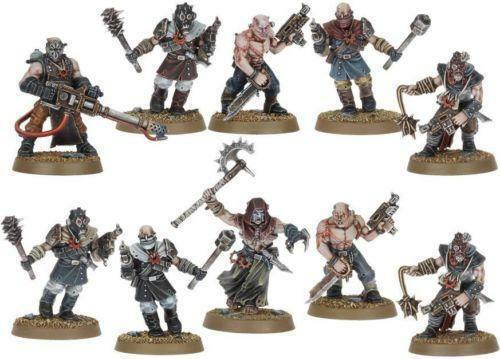 DARK VENGEANCE CHAOS CULTISTS WITH HEAVY FLAMER AND CAPTAIN NEW ON SPRUE OOP