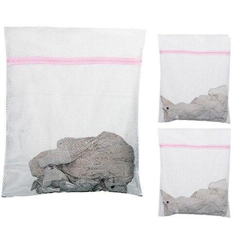 3x zippé linge machine à laver Mesh Net soutien-gorge Chaussettes Lingerie Sous-Vêtements Lavage Sac