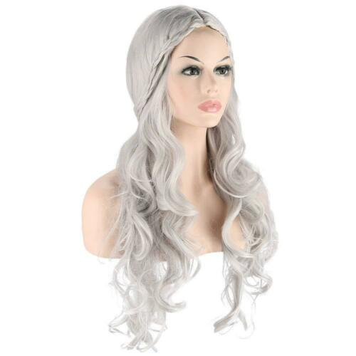 Daenerys Targaryen Costume Cosplay Party Game of Thrones Fancy Dress Wig