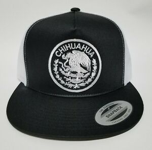 CHIHUAHUA MEXICO HAT  MESH TRUCKER BLACK  SNAP BACK ADJUSTABLE NEW