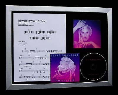 ELLIE GOULDING How Long You Love Me LTD MUSIC CD FRAMED DISPLAY+FAST GLOBAL SHIP