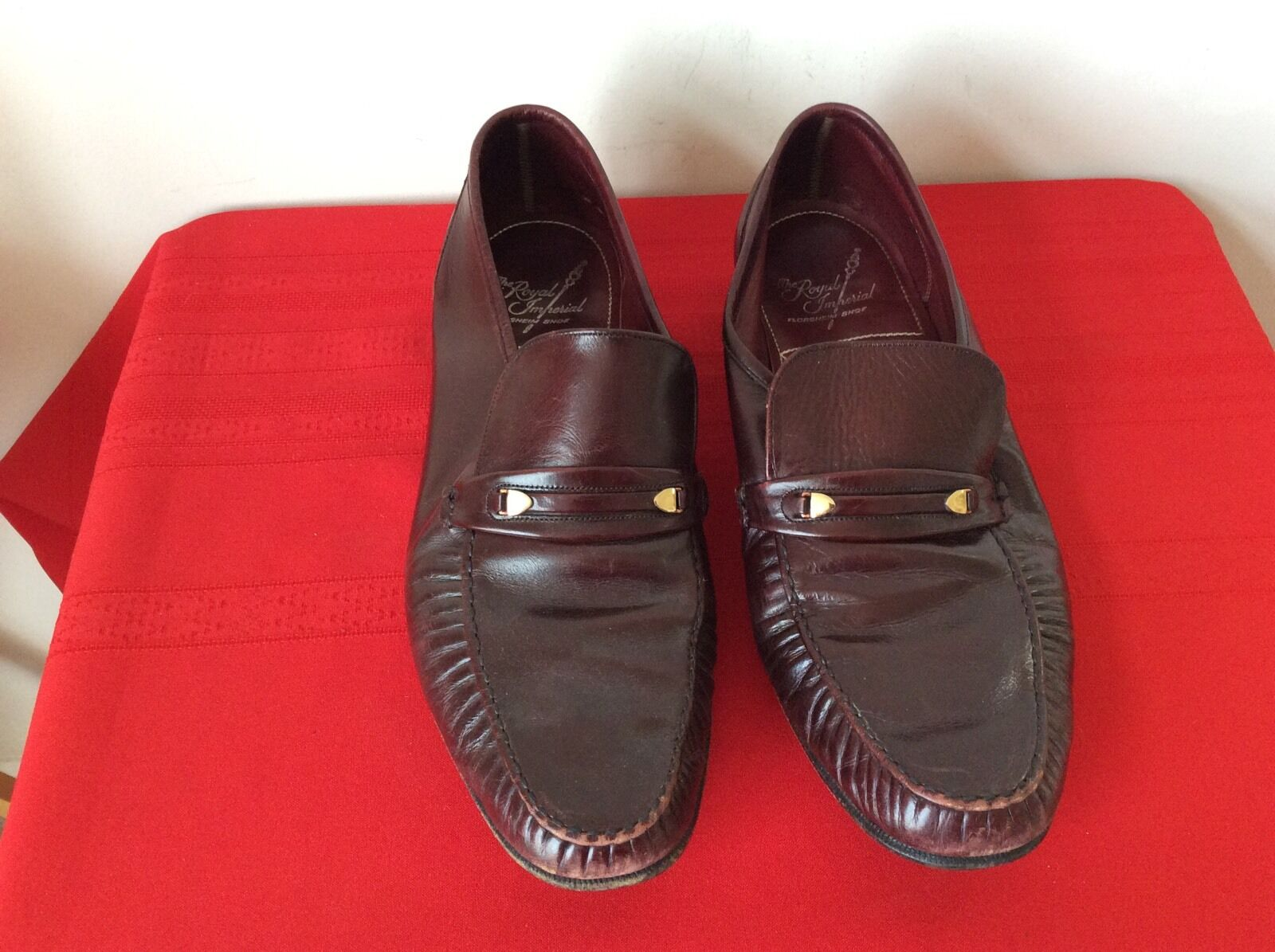 Men's Florsheim sz. Royal Imperial Brown Slip-on Dress Loafers sz. Florsheim 10.5 D. (b17) 7dbf11