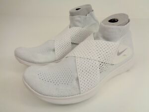 f65c02fd9cb3 NIKE Free RN Motion Flyknit 2017 Running Shoe Mens Sz 12 White Gray ...