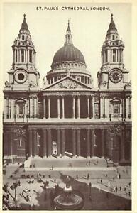 EARLY-1900-039-s-VINTAGE-St-PAUL-039-S-CATHEDRAL-LONDON-POSTCARD-UNUSED