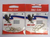 Eagle Claw Classic Aberdeen Hooks Gold Size 4 202ela 2 Pack 3ii