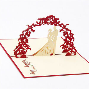 Image Is Loading 3D Christmas Handmade Up Wedding Party Birthday Invitations