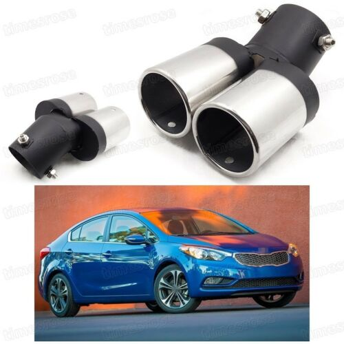 Exhaust Muffler Tip Tail Pipe Trim Double Outlets for KIA Forte 2014-2016 #Z018