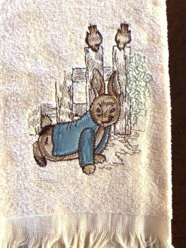 Seasonal Accents Hand Towels Easter Rabbit Set of 2