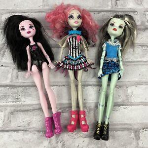 Monster-High-Dolls-Draculaura-Frankie-Stein-Rochelle-Goyle-Lot-of-3
