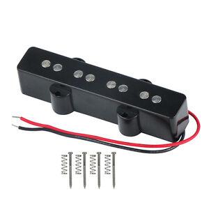 NEW-4-String-J-Bass-Pickup-Bridge-Single-Coil-Pickup-Black-for-Jazz-Style-Bass