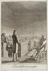 Chodowiecki (1726-1801). fede tedesca consenso; pressione grafico
