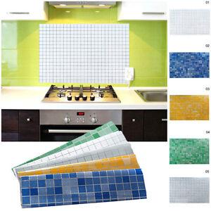 3d mosaik aluminium folie anti l tapete aufkleber k che aufkleber diy 70x45cm ebay. Black Bedroom Furniture Sets. Home Design Ideas