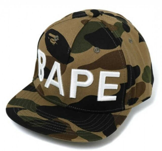 e11df3ec672 A BATHING APE GOODS KIDS 1ST CAMO SNAP BACK CAP GRN One Size Japan with  Tracking