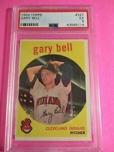 1959 Topps #327 Gary Bell Cleveland Indians, PSA 5 EX New Case
