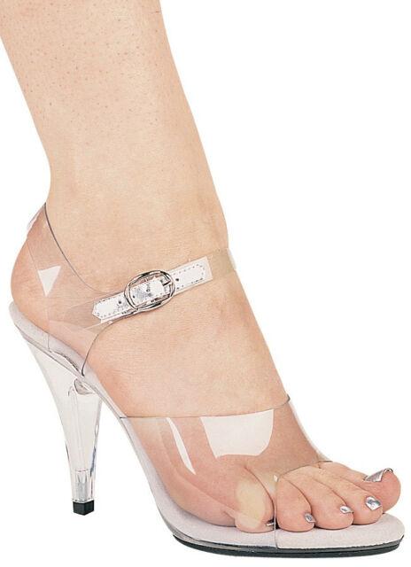 a35de30228a Clear Sandals Acrylic Bottom Open Toe 4.5