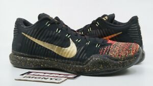 bdfe645e7a63 NIKE KOBE X 10 ELITE LOW USED SIZE 10.5 XMAS CHRISTMAS BLACK GOLD ...