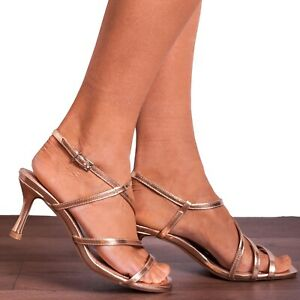 ROSE GOLD STRAPPY PEEP TOES ESPADRILLES FLAT ANKLE STRAP SANDALS SHOES SIZE 3-8