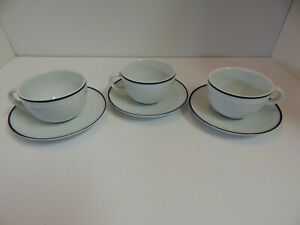 Crate-and-Barrel-Spal-Roulette-White-Cups-amp-Saucers-Porcelain-Portugal