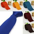 Men's Solid Fashion Casual Tie Knit Knitted Tie Necktie Narrow Slim Skinny Woven