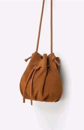 cuir de marron seau Zara Sac couleur en yWcUEZU
