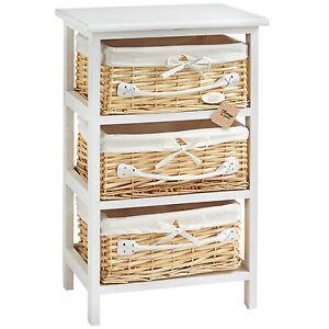 basket white wicker mdf bedroom bathroom cabinet drawers storage unit