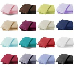 Full-Fitted-Sheet-Bed-Sheets-100-Poly-Cotton-Single-Double-Super-King-Size-New