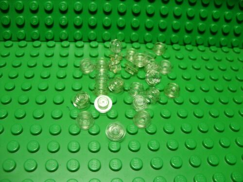 ** 25 CT LOT **  Lego NEW trans clear 1 x 1 round plate pieces Lot of 25