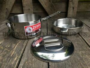 ZEBRA-LUNCH-BOX-BILLY-CAN-14cm-Round-Stainless-Steel-Cooking-Pot-Mess-Tin-Pan