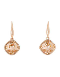 NEW Trent Nathan Angled Crystal Drop Earring Peach