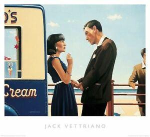 The Couché Jeu Par Jack Vettriano Art Poster Imprimé Love Romance Plage