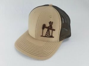 wholesale dealer acfb0 cb675 Image is loading 3D-OIL-FIELD-LIFE-HAT-CAP-SNAPBACK-CURVED-