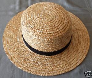 Image is loading Men-039-s-Amish-Straw-Hat-S-M-L-XL- 53bb1f717d1